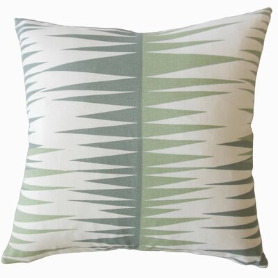 Wetzel Geometric Down Filled 100% Cotton Throw Pillow Size: 22 x 22, Color: Green