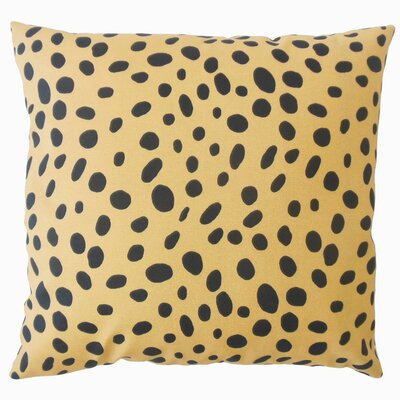 Chisley Polka Dot Down Filled 100% Cotton Lumbar Pillow Color: Tan