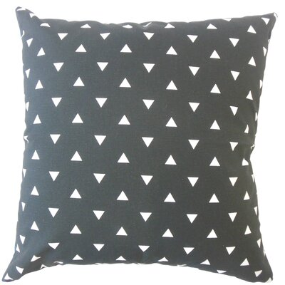 Wight Geometric Down Filled 100% Cotton Lumbar Pillow Color: Black