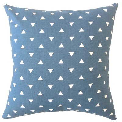 Wight Geometric Down Filled 100% Cotton Lumbar Pillow Color: Navy