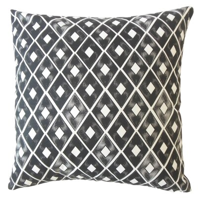 Wiesner Geometric Down Filled 100% Cotton Lumbar Pillow Color: Black