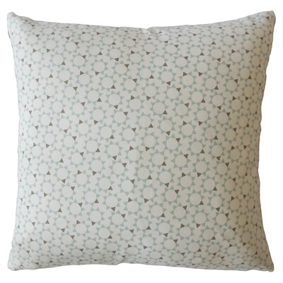 Creede Geometric Down Filled 100% Cotton Lumbar Pillow Color: Dew