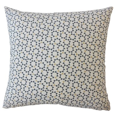 Creede Modern Geometric Down Filled 100% Cotton Throw Pillow Size: 18 x 18, Color: Blue