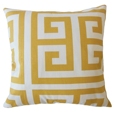 Unionville Geometric Down Filled 100% Cotton Throw Pillow Size: 24 x 24