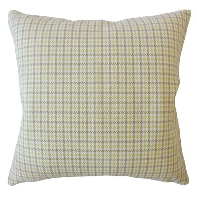 Bamburgh Plaid Down Filled 100% Cotton Lumbar Pillow Color: Celery