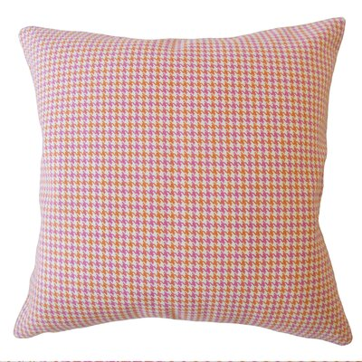 Sherwood Plaid Down Filled 100% Cotton Lumbar Pillow Color: Pink