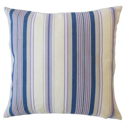 Imala Striped Down Filled 100% Cotton Lumbar Pillow Color: Plum