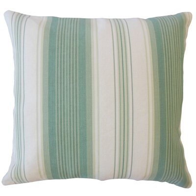 Imala Striped Down Filled 100% Cotton Lumbar Pillow Color: Seaglass