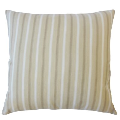 Camela Striped Down Filled 100% Cotton Lumbar Pillow Color: Natural