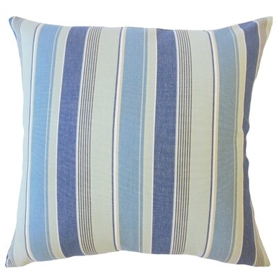 Bowdoinham Striped Down Filled 100% Cotton Throw Pillow Size: 24 x 24, Color: Marine