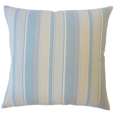 Bowdoinham Striped Down Filled 100% Cotton Lumbar Pillow Color: Mineral