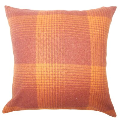 Wigginton Plaid Down Filled Velvet Lumbar Pillow Color: Persimmon