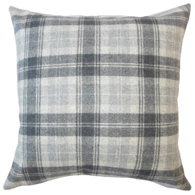 Althoff Plaid Down Filled Velvet Lumbar Pillow Color: Charcoal