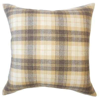Althoff Plaid Down Filled Velvet Lumbar Pillow Color: Honey