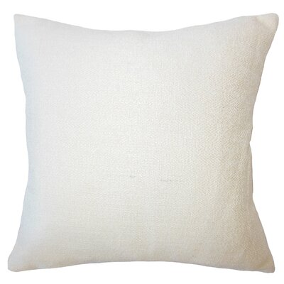 Evansville Solid Down Filled Throw Pillow Size: 18 x 18, Color: Creme