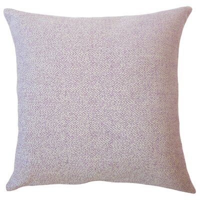 Evansville Solid Down Filled Lumbar Pillow Color: Lavender