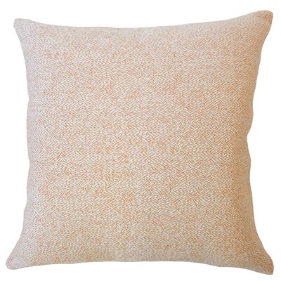 Evansville Solid Down Filled Throw Pillow Size: 24 x 24, Color: Orange
