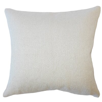Evansville Solid Down Filled Throw Pillow Size: 22 x 22, Color: Sesame
