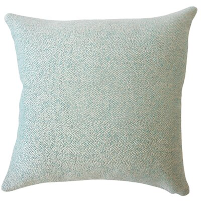 Evansville Solid Down Filled Throw Pillow Size: 18 x 18, Color: Teal