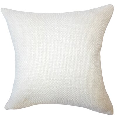 Nik Solid Down Filled Lumbar Pillow Color: Antique White