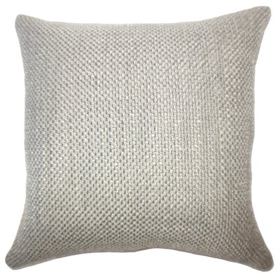 Nik Solid Down Filled Throw Pillow Size: 24 x 24, Color: Chinchilla
