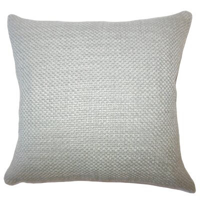 Nik Solid Down Filled Lumbar Pillow Color: Gray