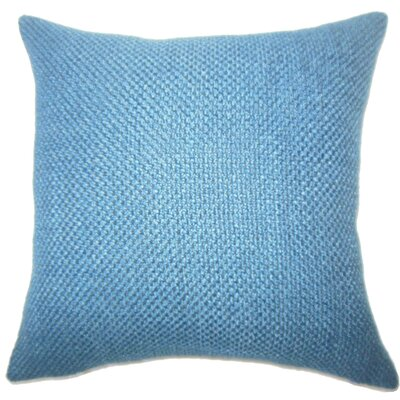 Nik Solid Down Filled Lumbar Pillow Color: Indigo