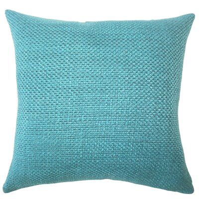 Nik Solid Down Filled Throw Pillow Size: 22 x 22, Color: Peacock