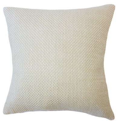 Nik Solid Down Filled Throw Pillow Size: 24 x 24, Color: Sesame