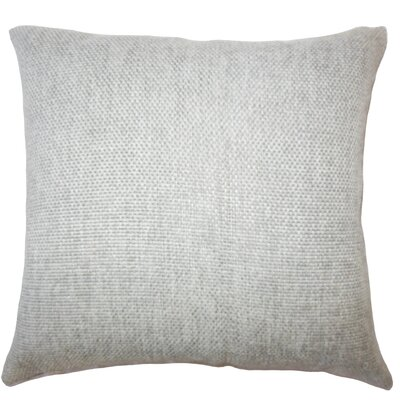 Fryeburg Solid Down Filled Throw Pillow Size: 20 x 20, Color: Gray