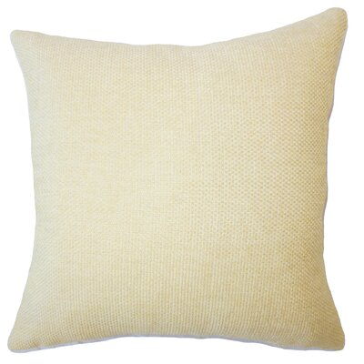 Fryeburg Solid Down Filled Throw Pillow Size: 18 x 18, Color: Jonquil