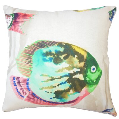 Meredith Nautical Down Filled 100% Cotton Throw Pillow Size: 18 x 18