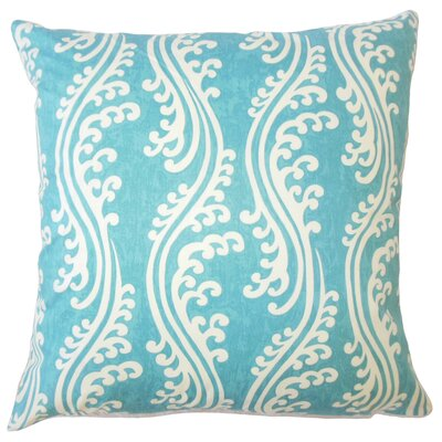 Isleboro Down Filled 100% Cotton Throw Pillow Size: 18 x 18, Color: Aquamarine