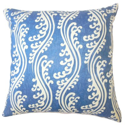 Isleboro Down Filled 100% Cotton Throw Pillow Size: 22 x 22, Color: Ocean