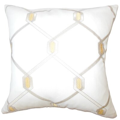 Dundalk Geometric Down Filled Throw Pillow Size: 18 x 18, Color: Amber