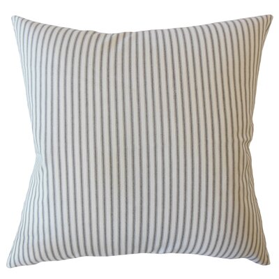 Jaishri Striped Down Filled 100% Cotton Lumbar Pillow Color: Black