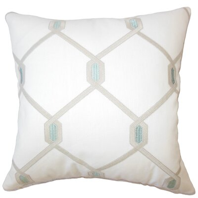 Dundalk Geometric Down Filled Lumbar Pillow Color: Aqua Cocoa