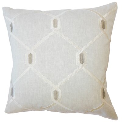 Dundalk Geometric Down Filled Lumbar Pillow Color: Charcoal