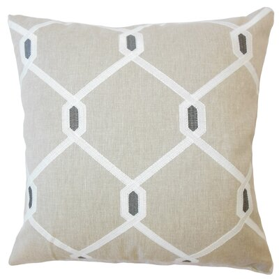 Dundalk Geometric Down Filled Lumbar Pillow Color: Pewter
