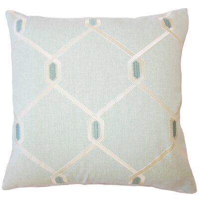 Dundalk Geometric Down Filled Throw Pillow Size: 18 x 18, Color: Seagreen