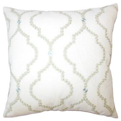 Ying Geometric Down Filled Lumbar Pillow Color: Seagreen
