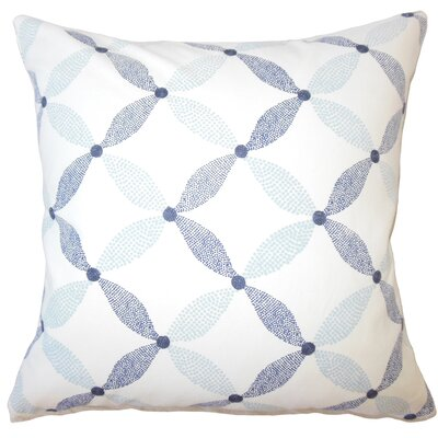 Wiest Geometric Down Filled 100% Cotton Lumbar Pillow Color: Marine