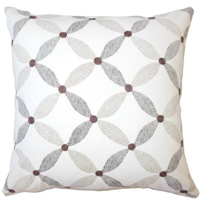 Wiest Geometric Down Filled 100% Cotton Throw Pillow Size: 22 x 22, Color: Mocha
