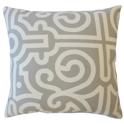 Wethington Geometric Down Filled 100% Cotton Throw Pillow Size: 24 x 24, Color: Mineral
