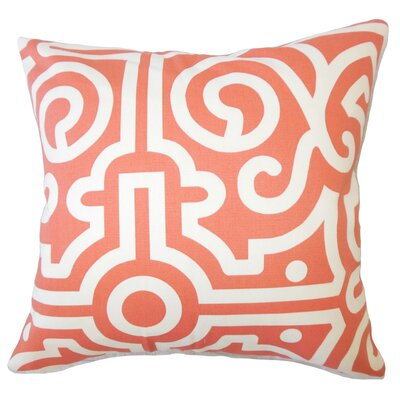 Wethington Geometric Down Filled 100% Cotton Lumbar Pillow Color: Watermelon