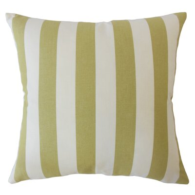 Pembrooke Striped Down Filled 100% Cotton Throw Pillow Size: 18 x 18