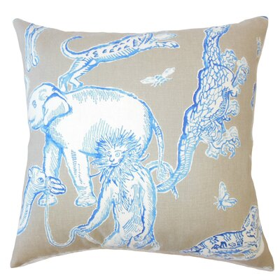 Vandalia Graphic Down Filled 100% Cotton Throw Pillow Size: 18 x 18, Color: Azure