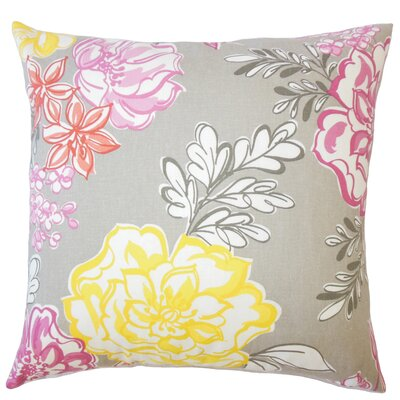 Goodrich Floral Down Filled 100% Cotton Lumbar Pillow Color: Blush