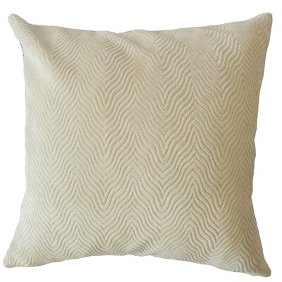 Anie Solid Down Filled Lumbar Pillow Color: Sand