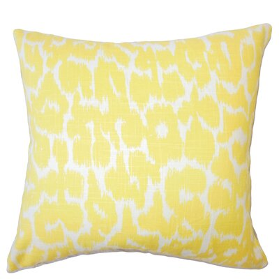 Wetzler Ikat Down Filled Linen Lumbar Pillow Color: Buttercup